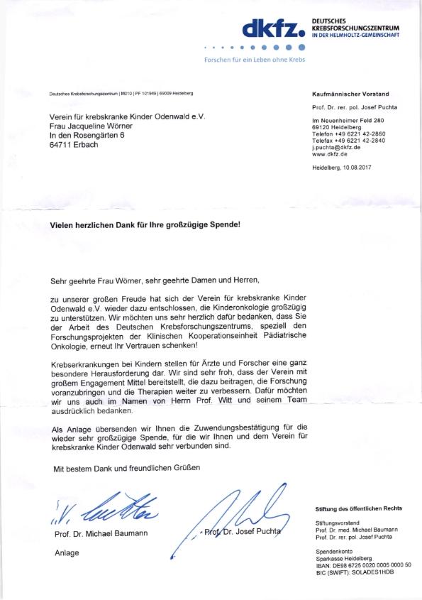 Spende An Die Kinderonkologie In Heidelberg Verein Für Krebskranke